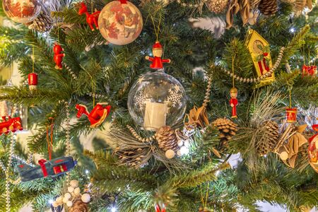 Christmas decorations on Christmas trees