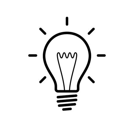 Bildergebnis für glühbirne clipart schwarz weiß