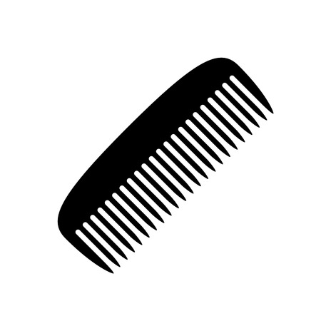 Comb icon. Black, minimalist icon isolated on white background. Comb simple silhouette. Web site page and mobile app design vector element.