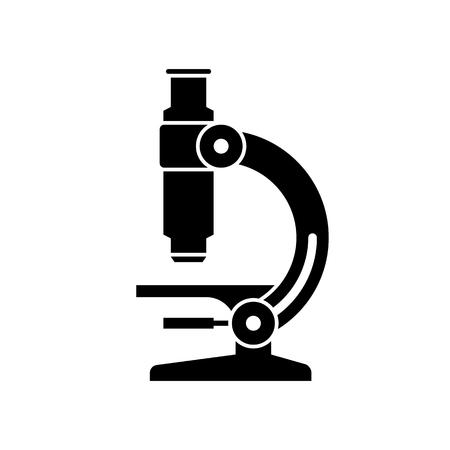 Czarna ikona mikroskopu.