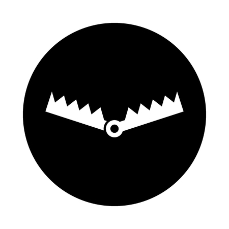 Trap circle icon. Black, round, minimalist icon isolated on white background. Trap simple silhouette. Web site page and mobile app design vector element.