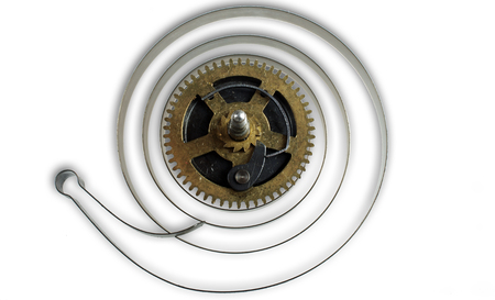 pulsating: The balance wheel is the pulsating heart of a watch Stock Photo