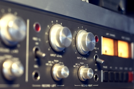 analogue: analogue input levels on old tape recoreder