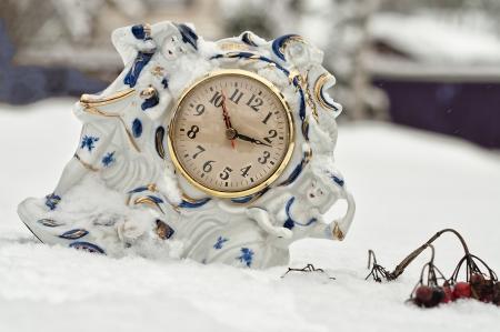 mantel: un orologio mensola del camino di porcellana