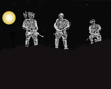 forces: Special Forces Unit Illustration