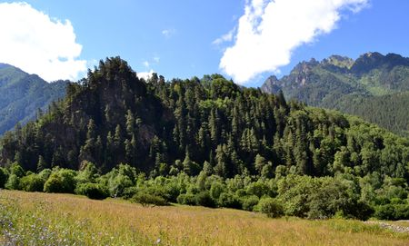 vertices: Nature of the Greater Caucasus. Photo taken on: July 27, Saturday, 2013