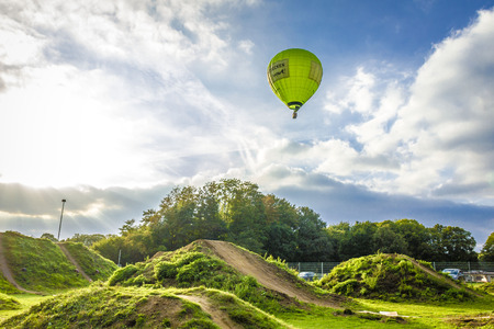 Green Hot Air Balloon Foto de archivo