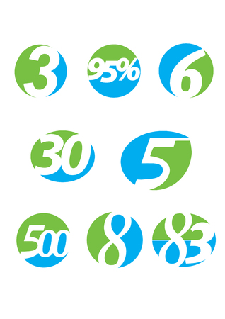 nternet: Number vector icon set Illustration