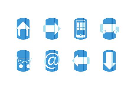 blue web icons: blue web icons vector set Illustration