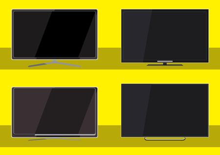 are modern: modern tv vector icon Illustration