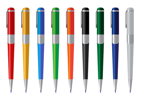 clerical: set of colored pens