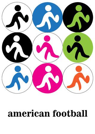 arbitro: Colorido icono del fútbol americano