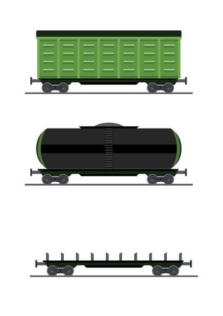 A colorful train car vector vagon illustration.
