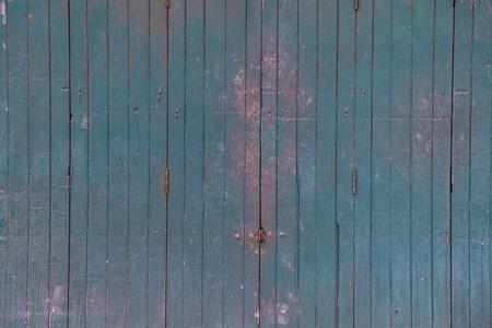 vintage retro wooden door store front. Home interior architectural design, plain tropical green painted textured wood panel board door wall in old traditional Asian house, Wallpaper, backdrop concept