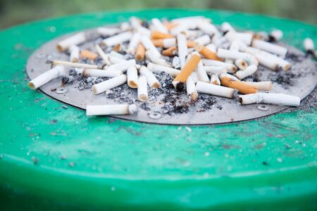 A cigarette filter (filter tip, cigaret butt) is component of a cigarette, along with cigarette paper, capsules and adhesives. It does not make cigaret less unhealthy. Smoking designated area concept