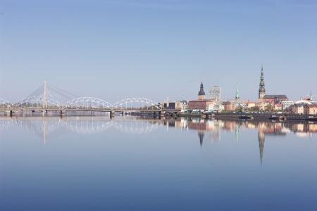 Panorama of Riga Stock Photo