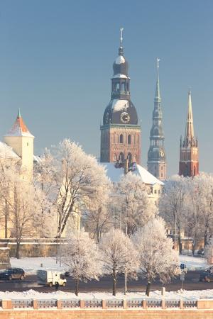 iga: Medieval city in winter
