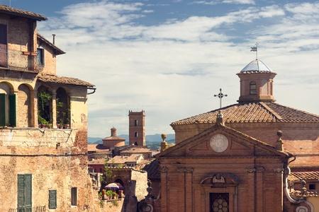 View of the Siena, Italy Фото со стока
