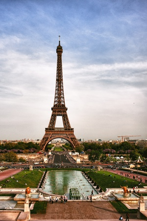 Eiffel Tower in Paris in early spring photo