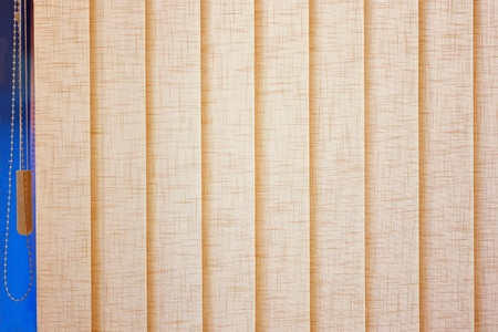 Beige blinds closed box Stock Photo