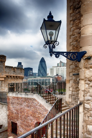 View of London from the Tower. Mary Axe.