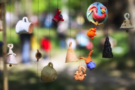 Глиняные игрушки на ярмарке