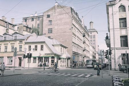 Crossroad Dzirnavu and Skolas in Riga
