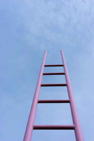 baltic: Pink ladder in the blue sky. Baltic