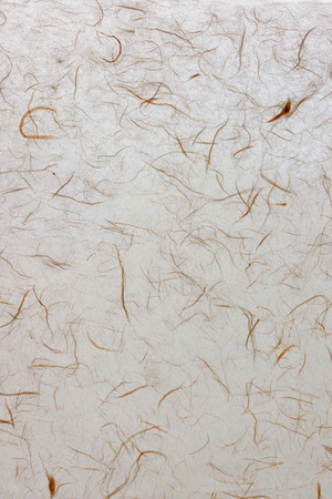 Textured decorative paper for writing with splashes of yarn fabric structure