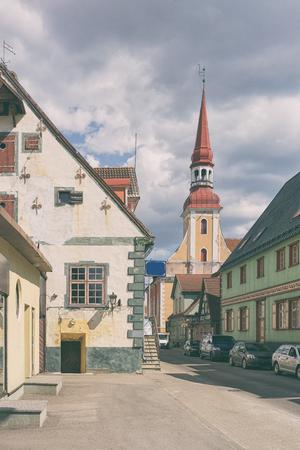 Old town of Parnu Pernau , a popular summer holiday resort town in Estonia