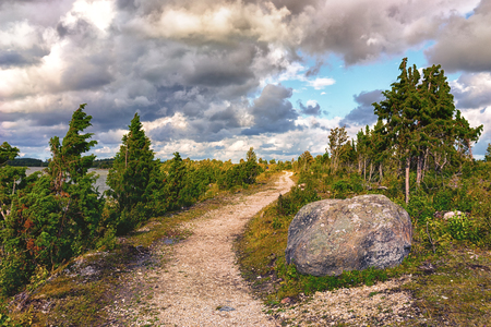 Cape of stones on the peninsula of Kassari on the Estonian island of Hiiumaa in the Baltic Sea