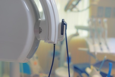 Fragment of a close-up of the renal apparatus in a modern dental clinic Фото со стока