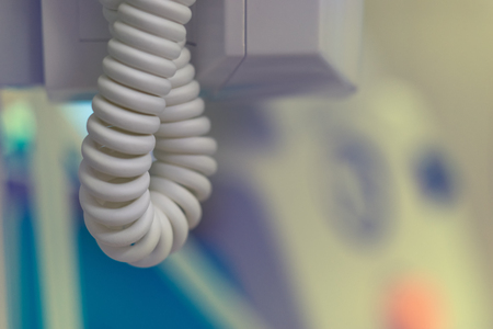 Power cord spiral in dentists office for background