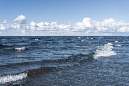 Waves on the Baltic in the summer are like clouds in the blue sky