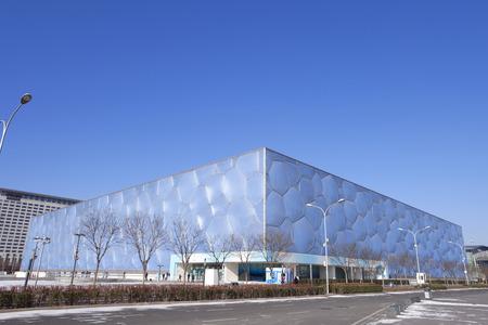 piscina olimpica: Nacional del Agua Centro Acuático - Cubo de Beijing