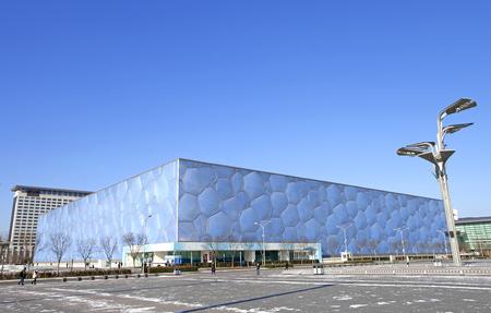 Nationales Schwimmzentrum Water - Cube in Peking Editorial