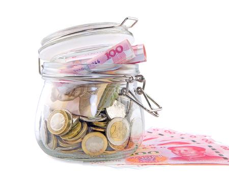 future earnings: Money jar Stock Photo