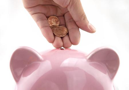 economise: Save money Stock Photo
