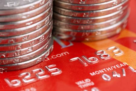 Chinesische Münzen mit Kreditkarte