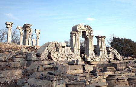 Yuanmingyuan Ruinen Standard-Bild