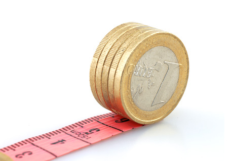 mental object: Euro coins running on tape