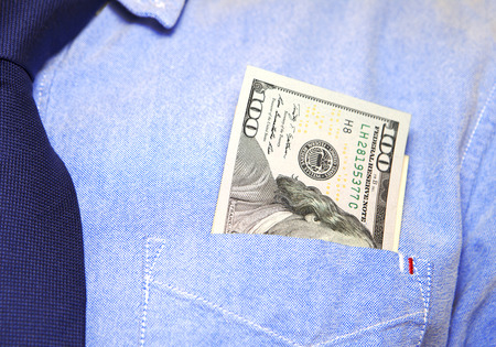 money in the pocket: Dinero de bolsillo Foto de archivo
