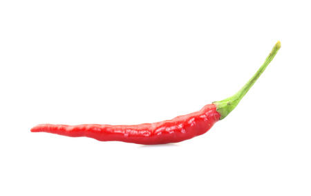 peppery: Red hot chili pepper isolated on white