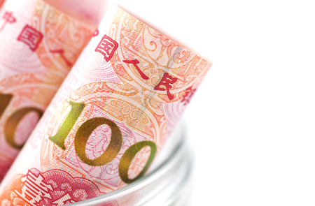 One hundred yuan close-up