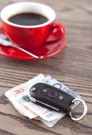 Hot coffee car keys