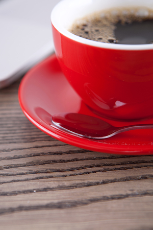 gules: Coffee on the desk