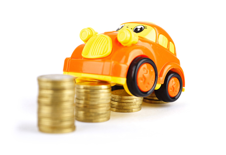 matting: The car climbed up the coin