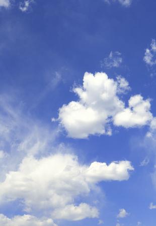 青い空と白い雲 写真素材