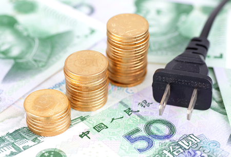Charging plug and RMB Stock Photo