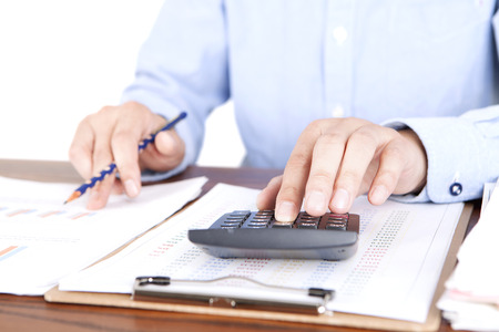 Accountant in work Stock Photo